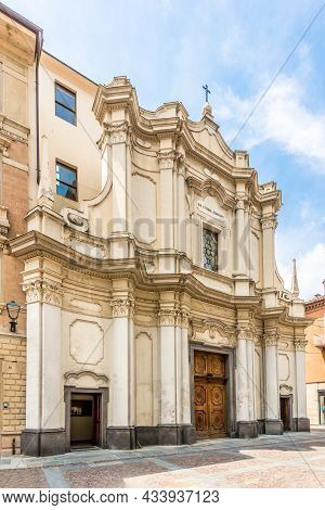 View At The Church Of Saints Cosma And Damiano In The Streets Of Alba In Italy