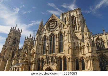 York Minster Gothic Cathedral, England