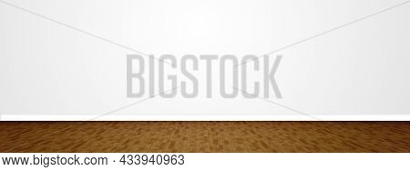 Concept or conceptual vintage or grungy brown background of natural wood or wooden old texture floor and wall as a retro pattern layout. A 3d illustration metaphor to time, material, emptiness or age