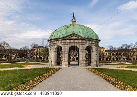 Munich, Germany - Apr 10, 2021: St. Joseph Is A Roman Catholic Church Located In Maxvorstadt, Munich