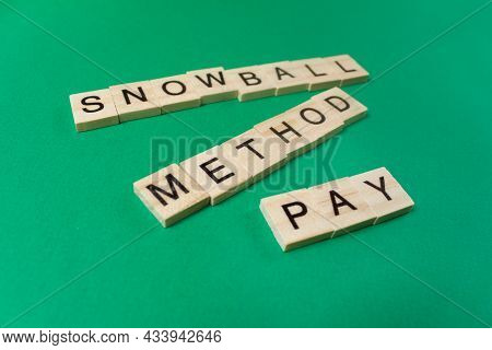 Snowball Method Pay Off Debt. Financial Concept.