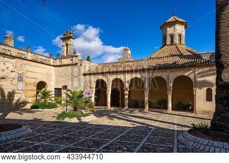 Jerez De La Frontera, Spain - Nov 15, 2019: Moorish Alcazar In Jerez De La Frontera, The Ancient Sto