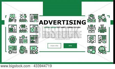 Programmatic Advertising Service Landing Web Page Header Banner Template Vector. Audience Programmat