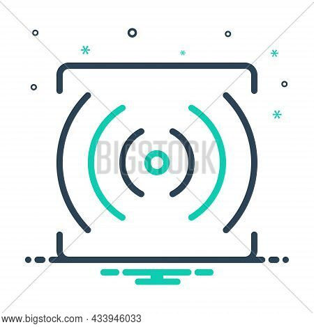 Mix Icon For Stream Router Broadcast Communication Sound Volume Multimedia Broadcasting Internet
