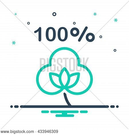 Mix Icon For Cotton Fabric Brand Boll Percentage Natural Bud Material Organic Textile Cloth Flower