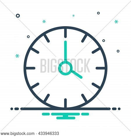 Mix Icon For Four Clock Watch Timer Timepiece Stopwatch Horologe Time Analog Countdown