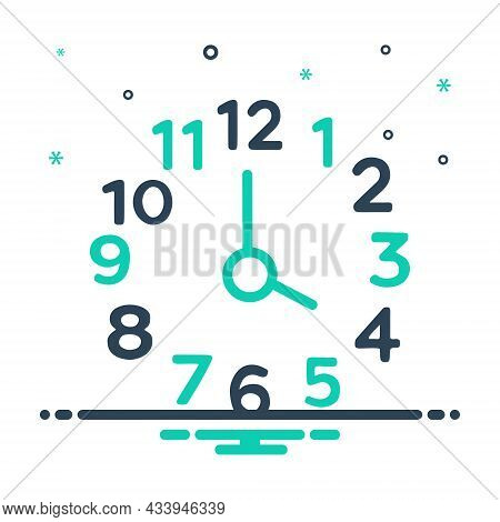 Mix Icon For Four Number Clock Watch Timer Timepiece Horologe Time Analog Countdown