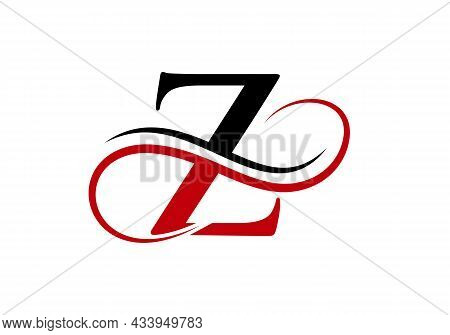 Initial Letter Z Modern Logo Design Template. Z Logo With Creative Curved Vector Illustration.