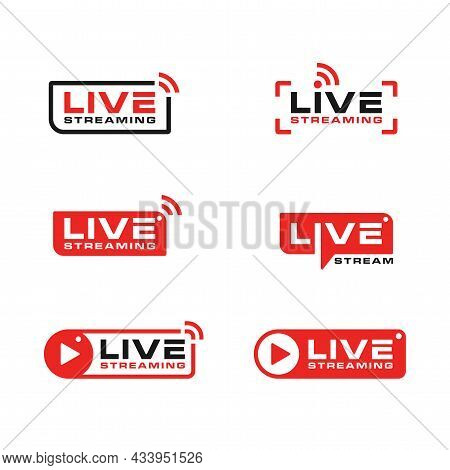 Live Streaming Broadcast Logo Icon Design Collection