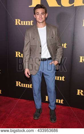 LOS ANGELES - SEP 01: Carson Boatman arrives for the 'Runt' Los Angeles Premiere on September 22, 2021 in Hollywood, CA