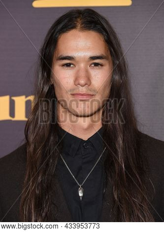 LOS ANGELES - SEP 01: Booboo Stewart arrives for the 'Runt' Los Angeles Premiere on September 22, 2021 in Hollywood, CA