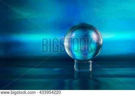 Magic Crystal Ball. Fortune Teller, Mind Power Concept.