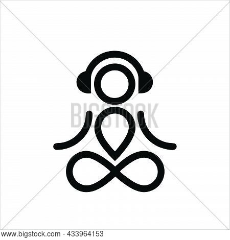 Headset Symbol For Logo, Web, App, Ui. Headset Icon Simple Sign. Headset Icon