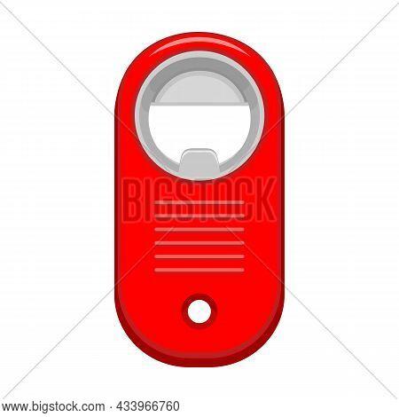 Bottle Opener Vector Cartoon Icon. Vector Illustration Corkscrew On White Background. Isolated Carto