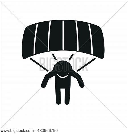 Parachute Icon Isolated On White Background.  Parachute Symbol For Logo, Web, App, Ui. Parachute Ico