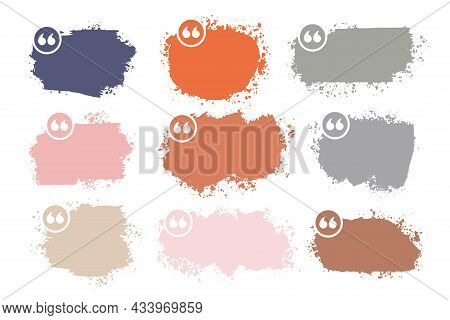 Abstract Grunge Splatter Quotation Boxes Collection Design Vector Illustration