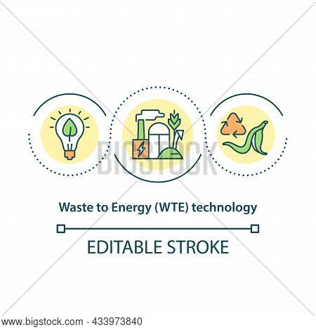 Waste To Energy Technology Concept Icon. Development Of Alternative Energy Sources Market Abstract I