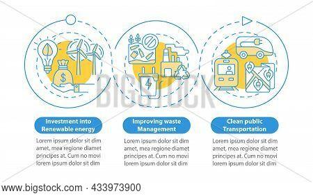 Reduce Global Warming Vector Infographic Template. Waste Management Presentation Outline Design Elem