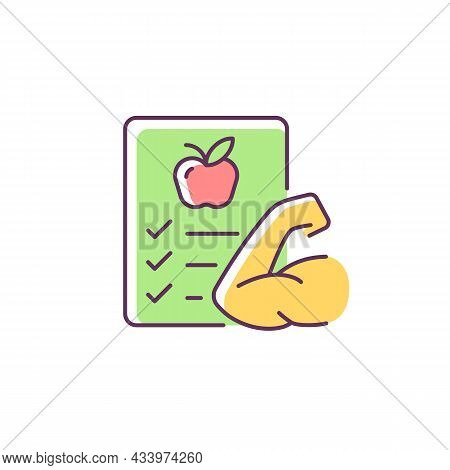 Health Rgb Color Icon. Emotional, Physical Health Classes In Educational Institutions. Popularizatio