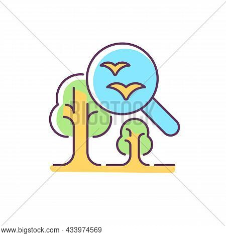 Environmental Science Rgb Color Icon. Current Environmental Problems, Natural World Study. Environme