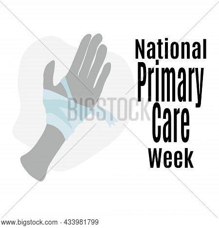 National Primary Care Week, Medical Poster, Banner Or Flyer Idea Vector Illustration For Design