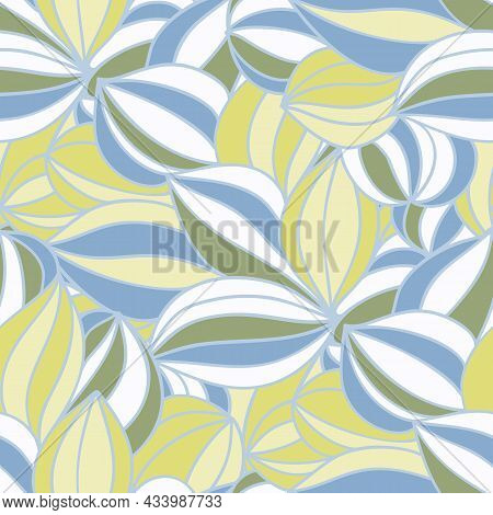 Seamless Pattern With A Simple Abstract Drawing. Vector Illustration.