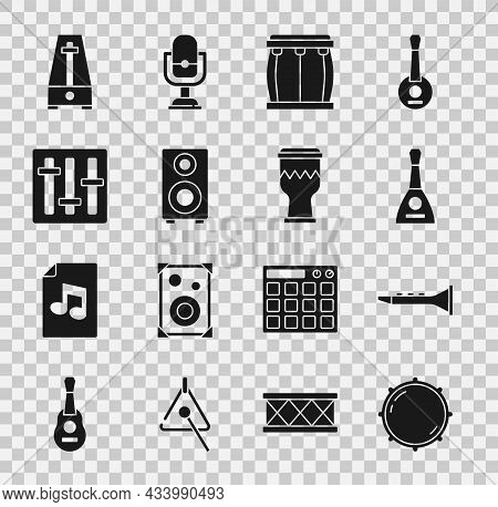 Set Dial Knob Level, Clarinet, Balalaika, Drum, Stereo Speaker, Sound Mixer Controller, Metronome Wi