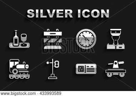 Set Train Traffic Light, Conductor, Draisine Handcar, Qr Code Ticket Train, Vintage Locomotive, Stat