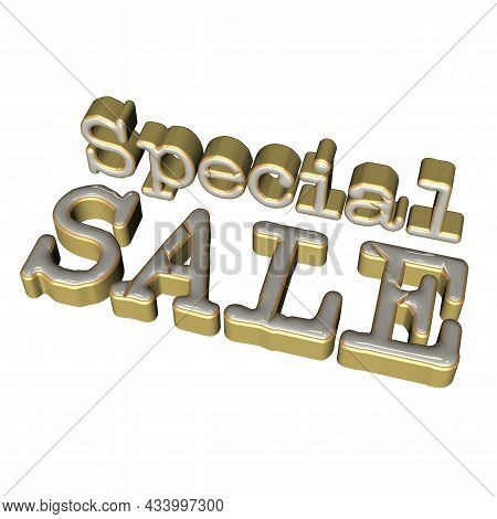 Three-dimensional Inscription Special Sale As A Sign.