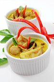 Fish ball green curry is Thai cuisine. poster