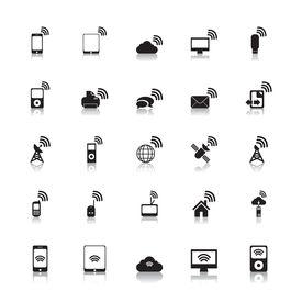 Wireless Icons Hotspot vector