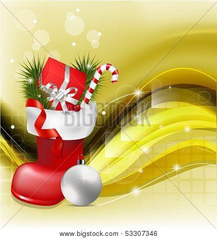 Christmas Jackboot Decorative Background