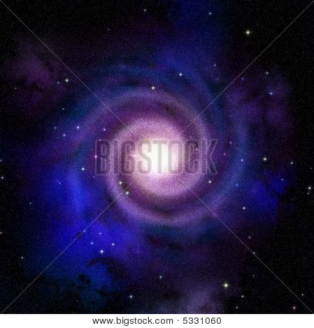 Spiral Galaxy Top View