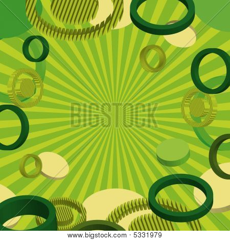 Stylish blue banner with circles. Vector illustration poster