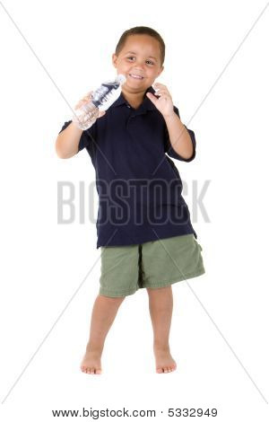 Boy With Water Bottle