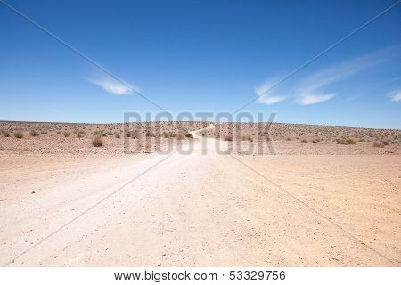 Generic Desert Scene With Path To Horizon