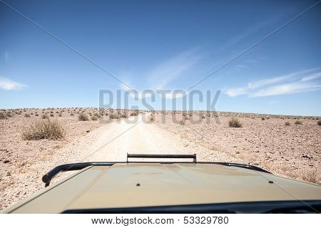 Generic Desert Scene Viewed From 4X4