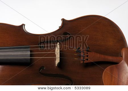Violin Viola Body Isolated On White