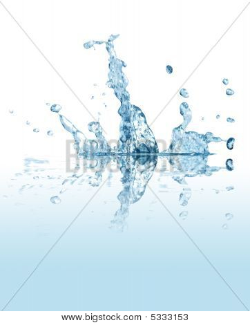 Splashing water abstract background isolated with clipping path poster