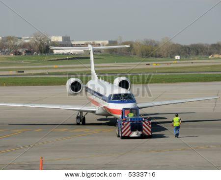 Airplane Pushing Back