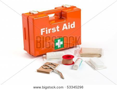 A First Aid Kit with dressing material