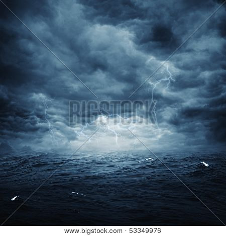 Stormy ocean abstract natural backgrounds for your design poster