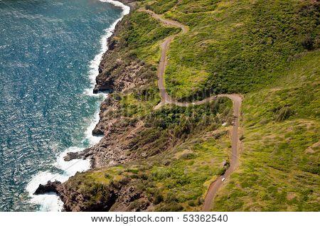 Kahekili Highway Along Maui Island Coast