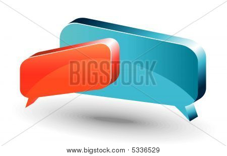 Chat Box. Orange And Blue