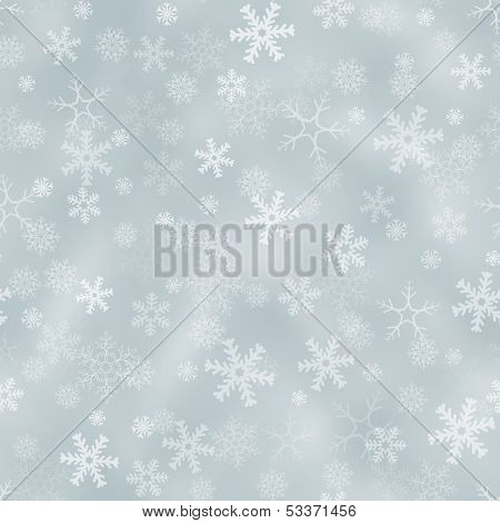 Seamless Silver Background With Snowflakes
