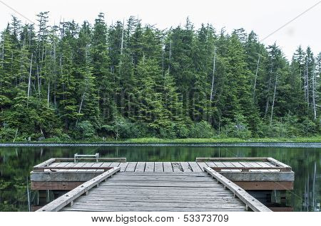 Dock On Heart Lake