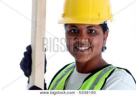 Vrouw bouwvakker