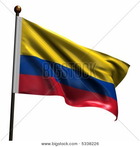 High Resolution Colombian Flag