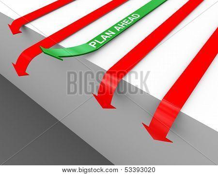 3D Plan Ahead Arrow