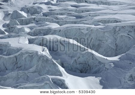Detail Of A Glacier